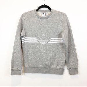 Adidas Trefoil Logo Crewneck Sweatshirt Youth L